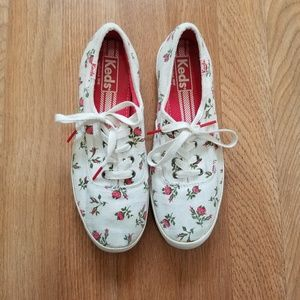 Keds | Red & White Floral Sneakers | SZ 6.5